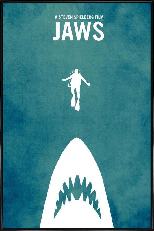 Jaws Inspired ingelijste poster