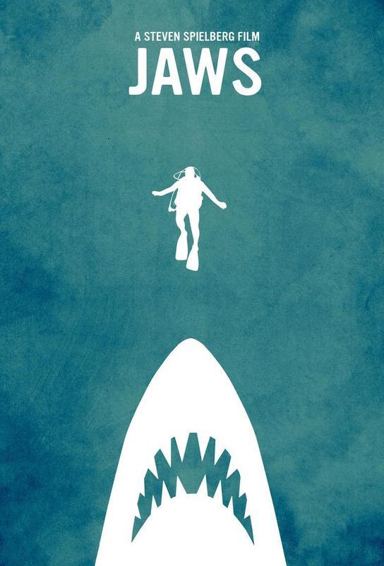 Jaws Inspired Impression sur alu-Dibond