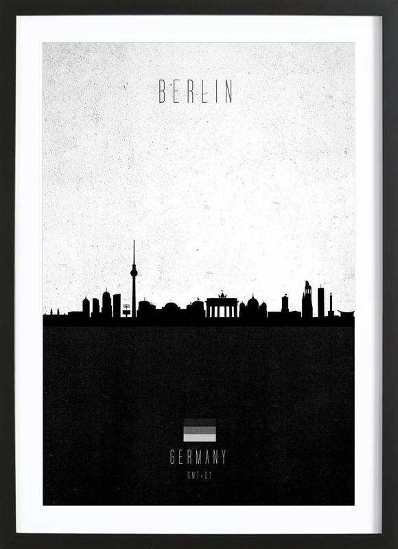 Berlin Contemporary Cityscape Framed Print