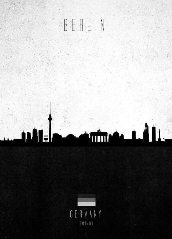 Berlin Contemporary Cityscape Canvas Print
