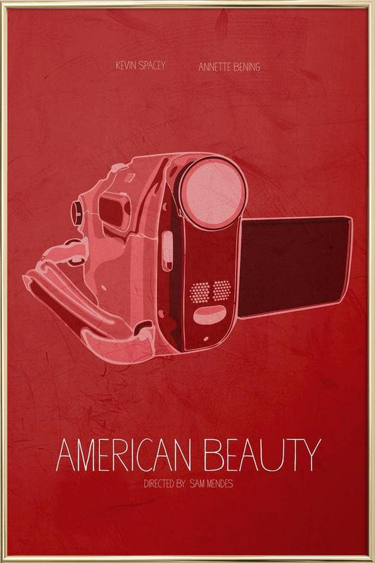 American Beauty -Poster im Alurahmen