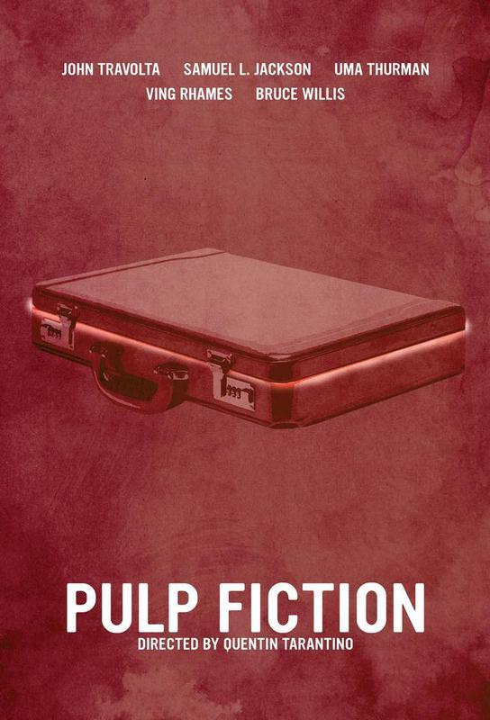 Pulp Fiction tableau en verre