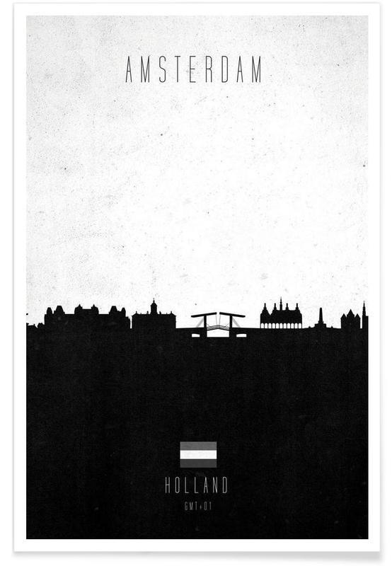 Amsterdam Contemporary Cityscape affiche