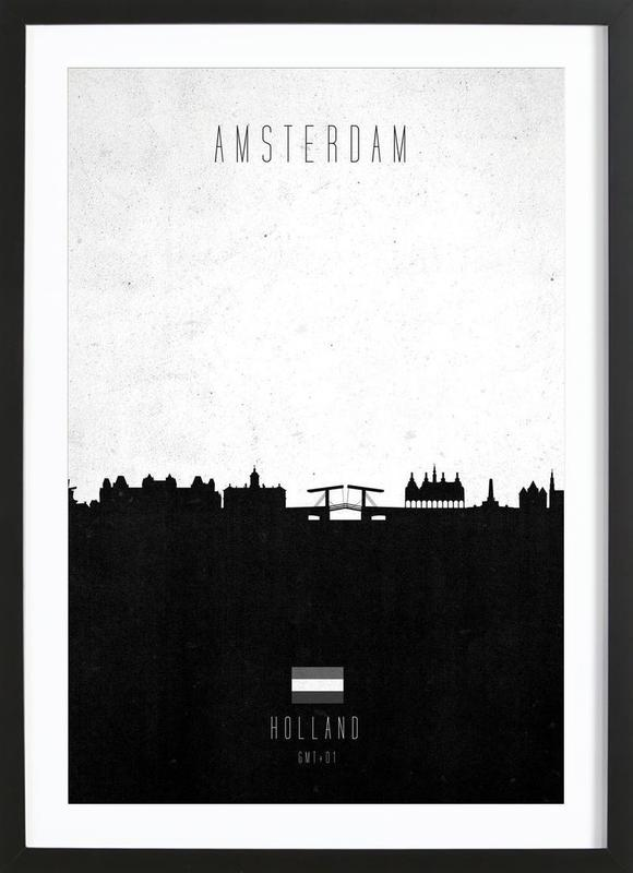 Amsterdam Contemporary Cityscape Framed Print
