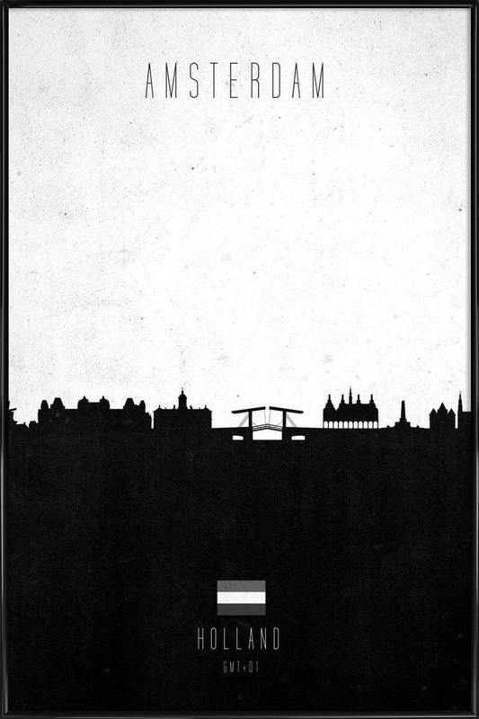 Amsterdam Contemporary Cityscape Framed Poster