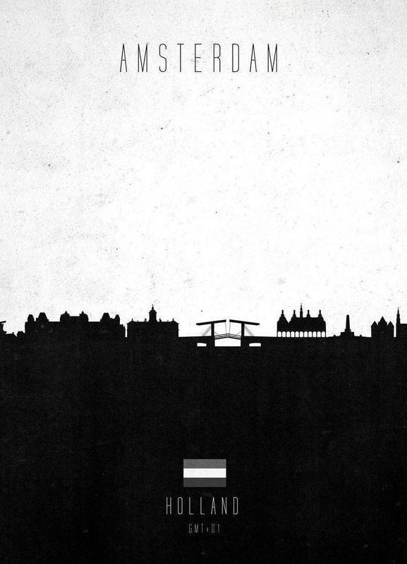 Amsterdam Contemporary Cityscape Canvas Print