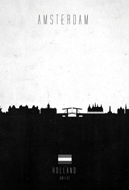 Amsterdam Contemporary Cityscape Aluminium Print