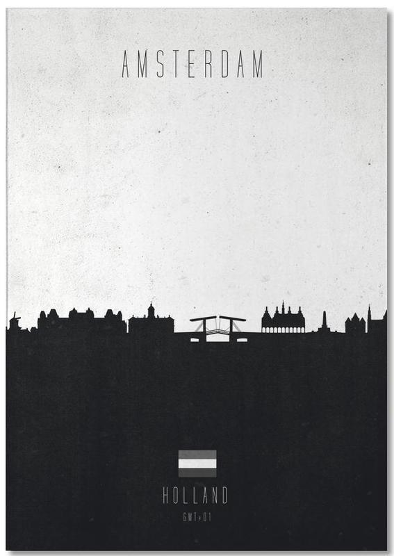 Amsterdam Contemporary Cityscape -Notizblock