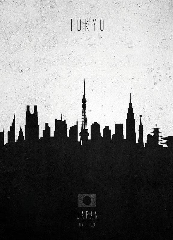 Tokyo Contemporary Cityscape -Leinwandbild
