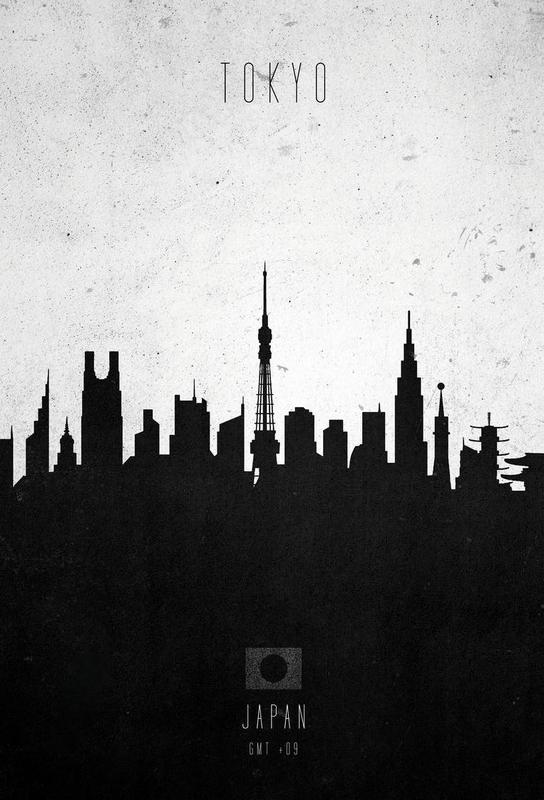 Tokyo Contemporary Cityscape alu dibond
