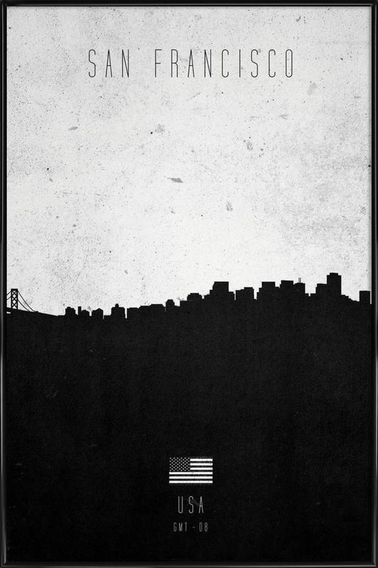 San Francisco Contemporary Cityscape Framed Poster