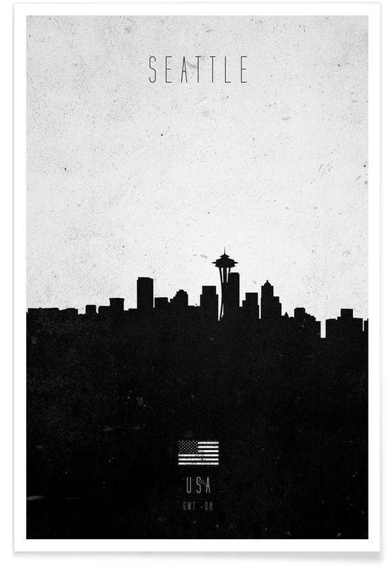 Seattle Contemporary Cityscape affiche