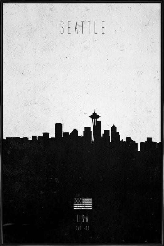 Seattle Contemporary Cityscape Framed Poster