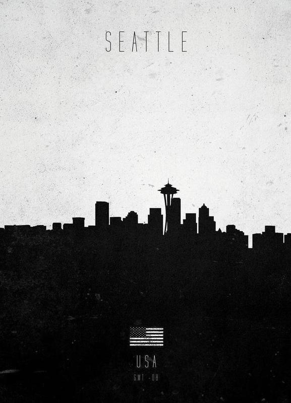 Seattle Contemporary Cityscape -Leinwandbild