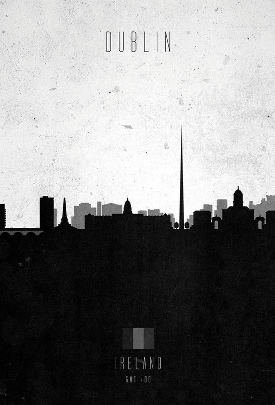 Dublin Contemporary Cityscape -Acrylglasbild