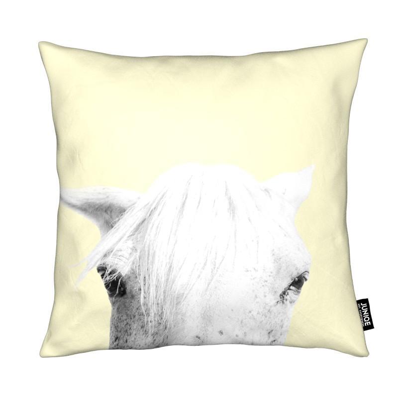Chevaux, Art pour enfants, Yellow Horse coussin