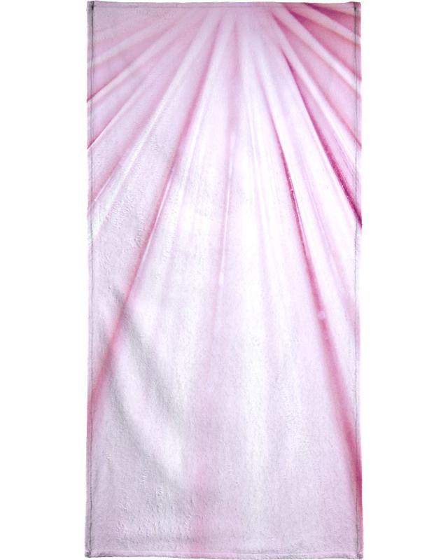 Pink Palm Bath Towel
