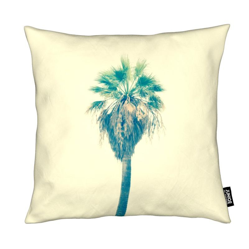 Yellow Sabal Palmetto coussin