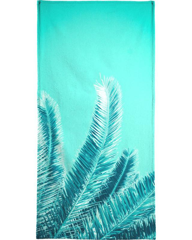 Green Palm Trees Bath Towel