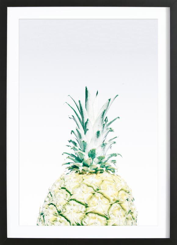 Pineapple -Bild mit Holzrahmen