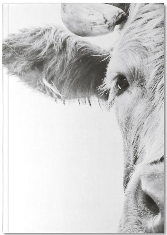 Vaches Highland, Noir & blanc, Highlander I Notebook