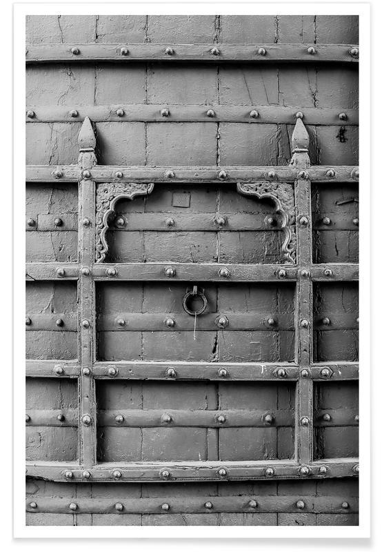 Détails architecturaux, Noir & blanc, Door affiche