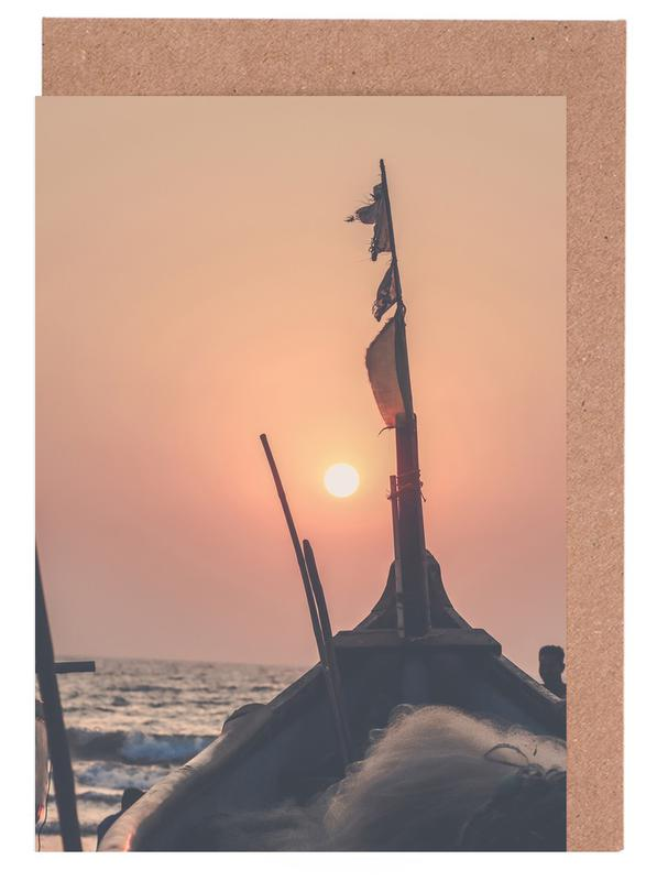 Sonnenuntergänge, Beach Sunset -Grußkarten-Set