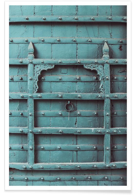 Architectural Details, Blue Door Poster