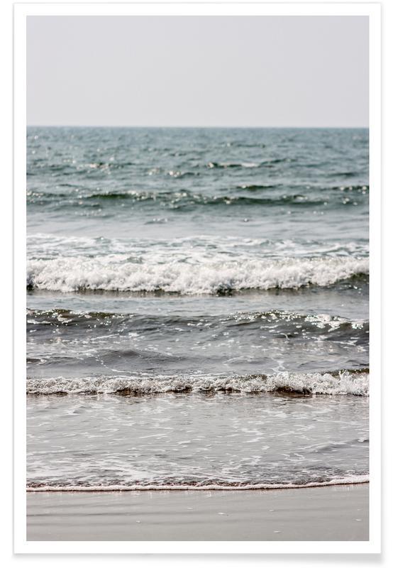 Beaches, Blue Beach Waves Poster
