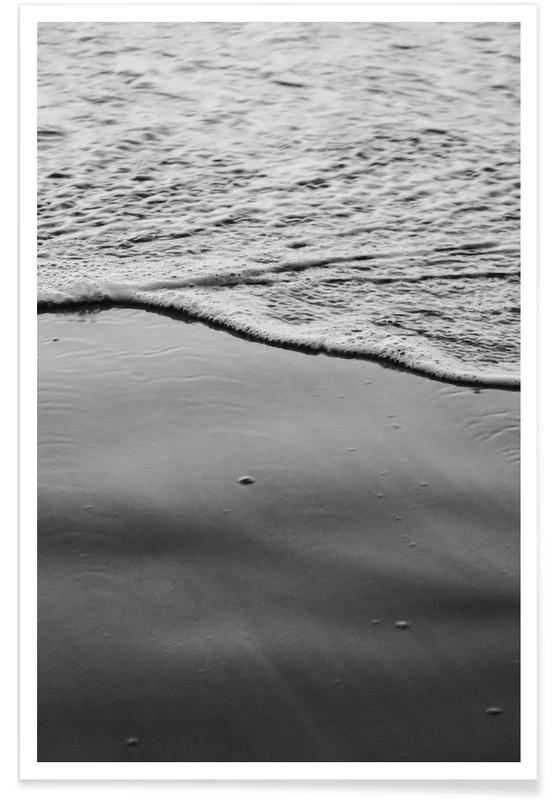 Ozeane, Meere & Seen, Schwarz & Weiß, Sea Foam -Poster