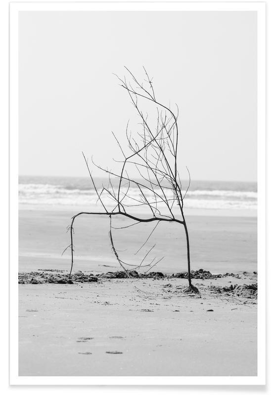 Bäume, Strände, Beach Sculpture -Poster