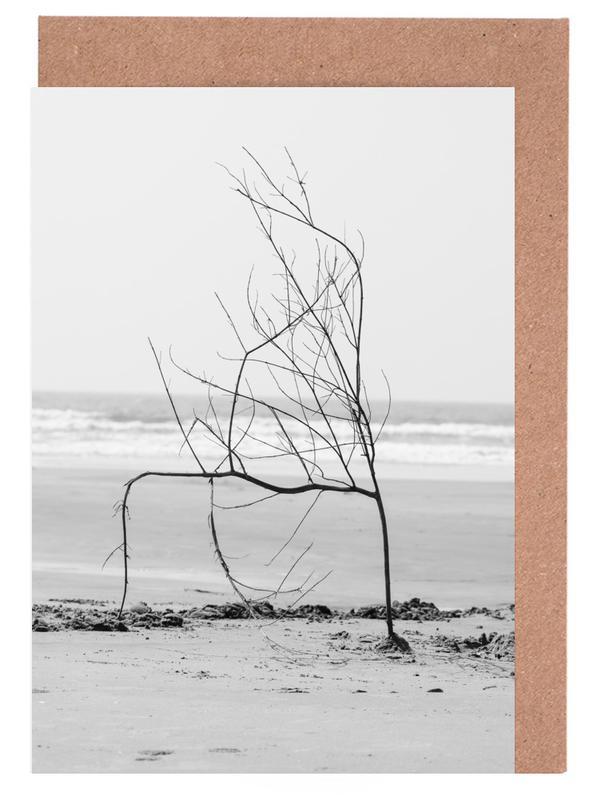 Bäume, Strände, Beach Sculpture -Grußkarten-Set