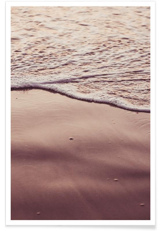 Ozeane, Meere & Seen, Strände, Sunset Waves -Poster