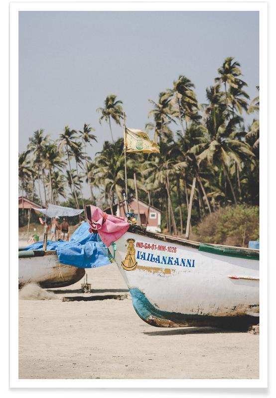 Plages, Voyages, Bateaux, Boats Ashore affiche
