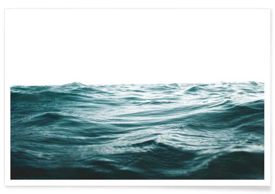 Ocean, Lake & Seascape, Blue Ocean Waves Poster