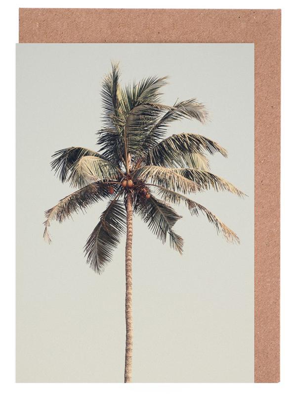 Palmen, Palm Tree By The Beach -Grußkarten-Set