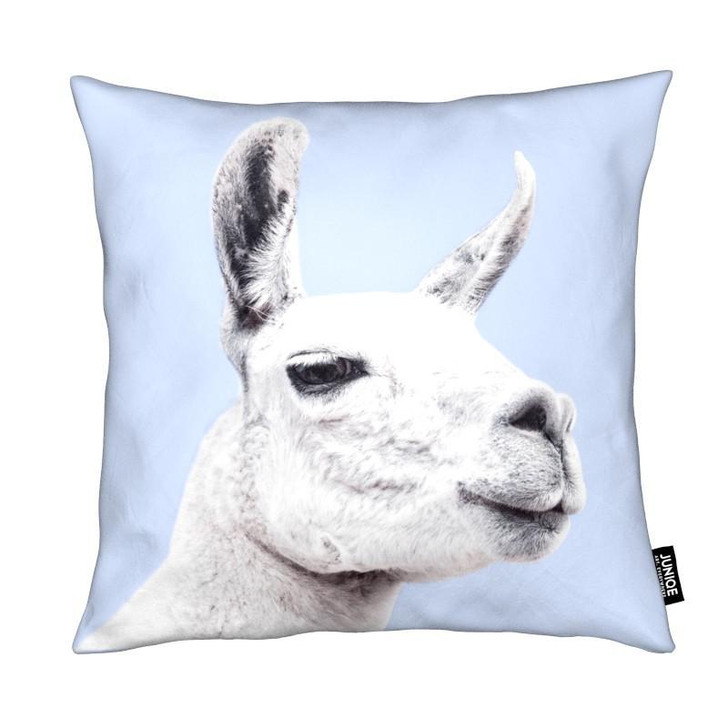 Blue Llama II coussin