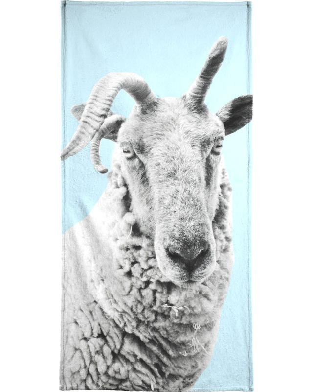 Blue Sheep Beach Towel