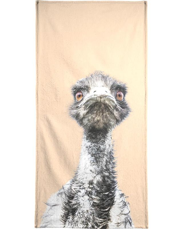 Orange Emu serviette de bain