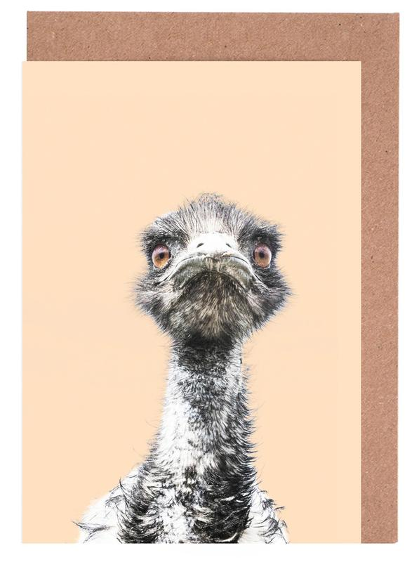 Orange Emu cartes de vœux