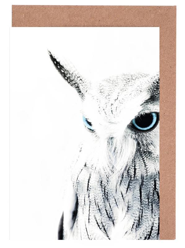 Owl II -Grußkarten-Set