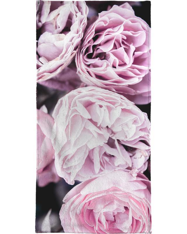 Pink flowers II serviette de plage
