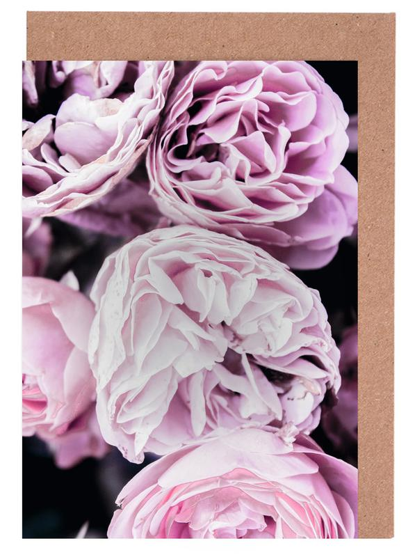 Pink flowers II Greeting Card Set