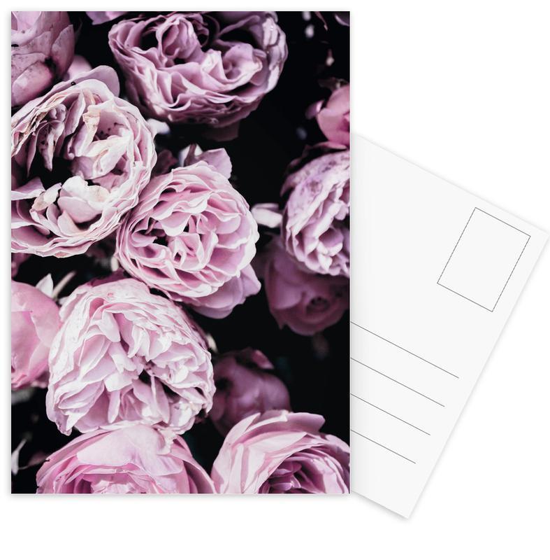 Pink Flowers III -Postkartenset