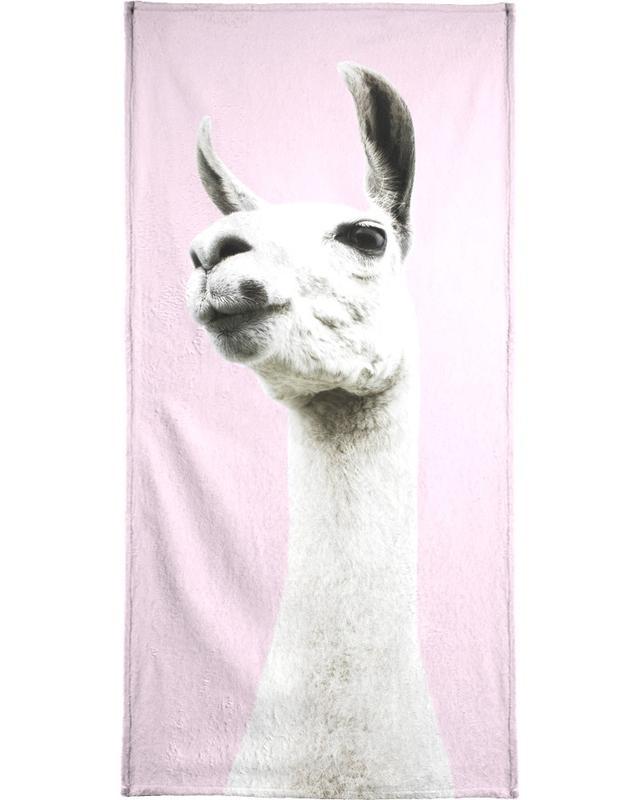Pink Llama serviette de bain