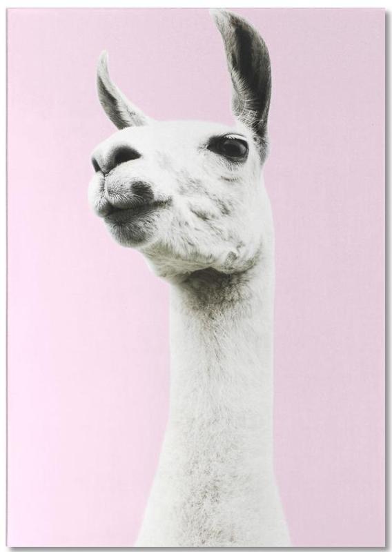 Lama, Kinderzimmer & Kunst für Kinder, Pink Llama -Notizblock