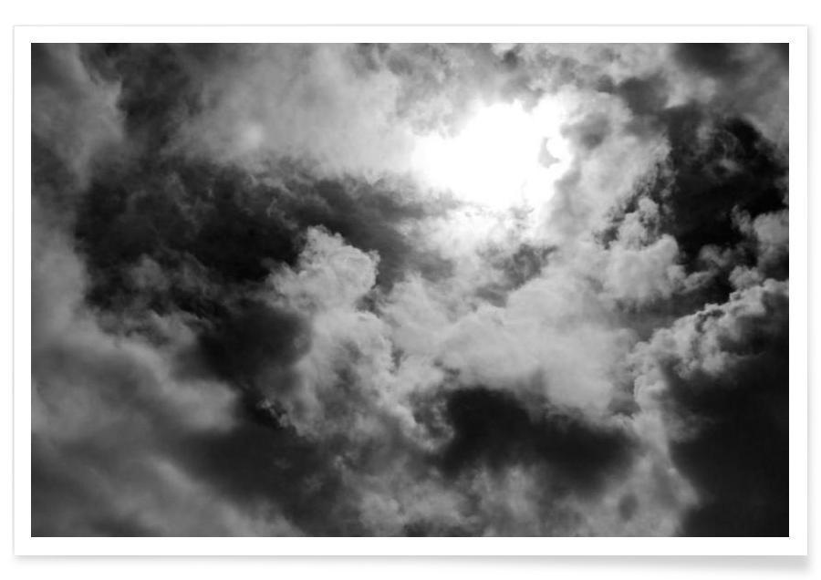 Schwarz & Weiß, Himmel & Wolken, Clouds -Poster