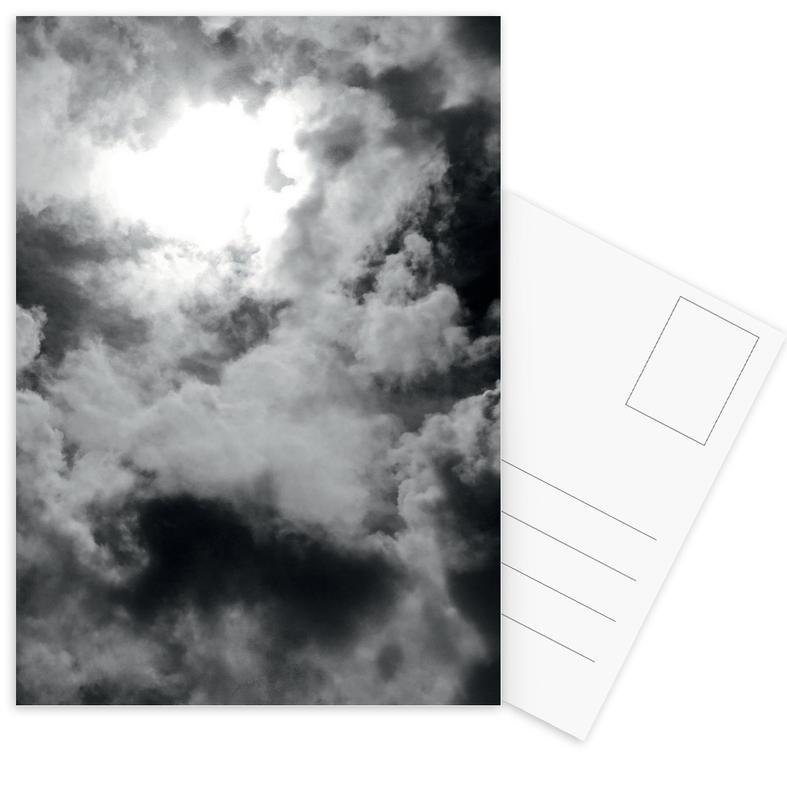 Schwarz & Weiß, Himmel & Wolken, Clouds -Postkartenset