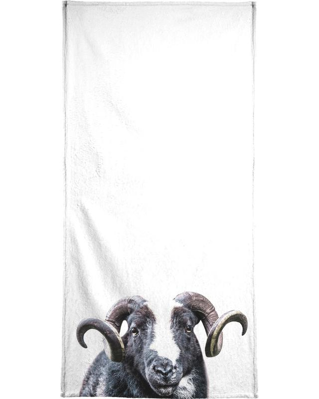 White R.A.M Beach Towel