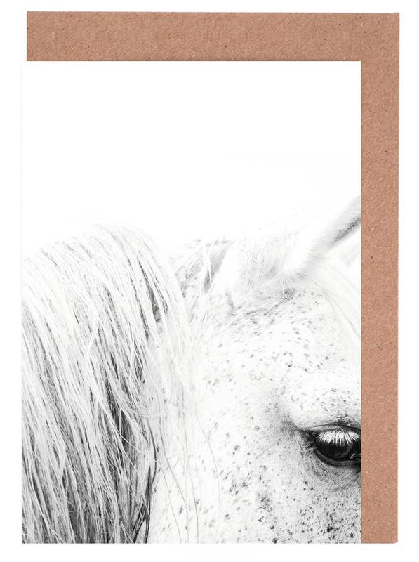 Schwarz & Weiß, Pferde, White Horse II -Grußkarten-Set